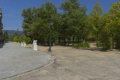 European, Jardines de la Granja de San Ildefonso, monuments in S Royalty Free Stock Photography