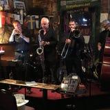 A European jazz band performs