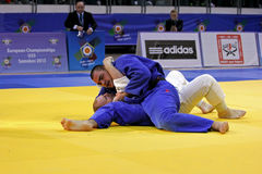 European judo championships 2013. Samokov, Bulgaria, 17 Nov 2013. European judo championships 2013. Stepan SARKISYAN from Russia defeats Daniel ALLERSTORFER from Stock Images
