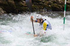 European Junior and U23 Canoe Slalom Championship Stock Images