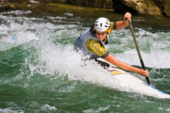 European Junior and U23 Canoe Slalom Championships Stock Images