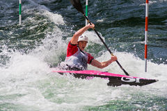 European Junior and U23 Canoe Slalom Championships Stock Photo