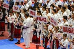 European karate championship stock images