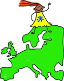 European kid Royalty Free Stock Photography