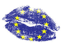 European kiss Royalty Free Stock Photo