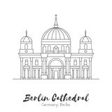 European landmark in thin line vector illustration Royalty Free Stock Photos