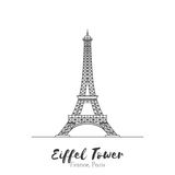 European landmark in thin line vector illustration Royalty Free Stock Image