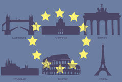 European landmarks Royalty Free Stock Photography