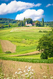 European landscape in Vojakovec village, Croatia Royalty Free Stock Photography