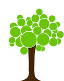 European language tree. Eco tree. Royalty Free Stock Photo