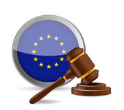 European law concept illustration design Royalty Free Stock Image