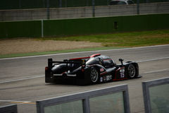 European Le Mans Series Ginetta - Nissan at Imola. Ginetta - Nissan nr.15 in front of the Pit Lane of Imola circuit during Saturday Practice session in LMP3 Royalty Free Stock Photography