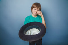 European-looking  boy  of ten years beggar, poor Stock Photography