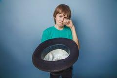 European-looking  boy  of ten years beggar, poor Stock Photography