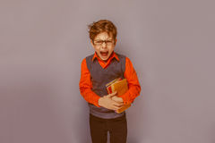 European-looking  boy of ten years in glasses Stock Photography