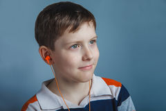 European-looking boy  of ten years with Stock Images