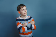 European-looking boy  of ten years with Stock Photography