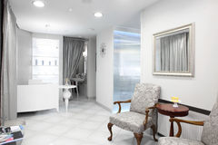 European luxury medical clinic. Brand new and empty european luxury medical clinic royalty free stock photos