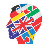 European man head silhouette Royalty Free Stock Image