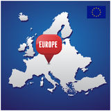 European map Royalty Free Stock Photography