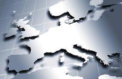 European Map In Metal Royalty Free Stock Photo