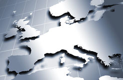 European map in metal Royalty Free Stock Photo
