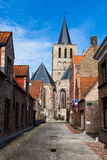Street in Bruges (Brugge), Belgium, Europe Royalty Free Stock Photos