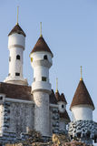 European medieval style castle. Royalty Free Stock Images
