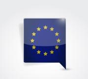 European message bubble illustration Stock Image