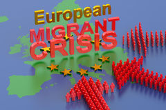 European Migrant Crisis Stock Photo