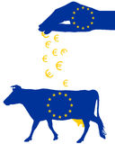 European milk subsidies Royalty Free Stock Photo