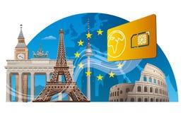 European mobile service Stock Image