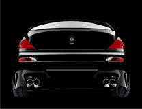 European modified bmw m6 sports car in black Royalty Free Stock Photo