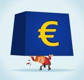 European on monetary crisis. Vector Stock Photo