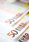 European money. 50 euro bills Royalty Free Stock Photo