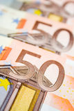 European money. Many 50 euro paper bills Royalty Free Stock Images