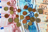 European money. European money  cash euros and coins Royalty Free Stock Images
