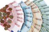 European money. European money  cash euros and coins Stock Image