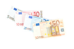 European money. In white background Royalty Free Stock Photography