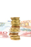 European money. In white background Stock Photography