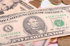 European money and american dollars Stock Images
