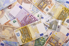 European money background Royalty Free Stock Photography