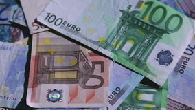 European money rotating Stock Images