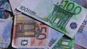 European money rotating stock video footage