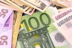 European money set background Royalty Free Stock Images