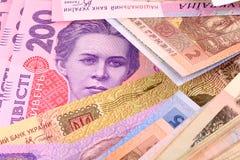 European money, ukrainian money Royalty Free Stock Photography