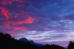 European mountain ridges Royalty Free Stock Images