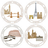 European national landmarks Stock Photo