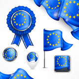 European national symbols Royalty Free Stock Image
