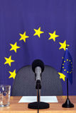 European news desk Stock Photo